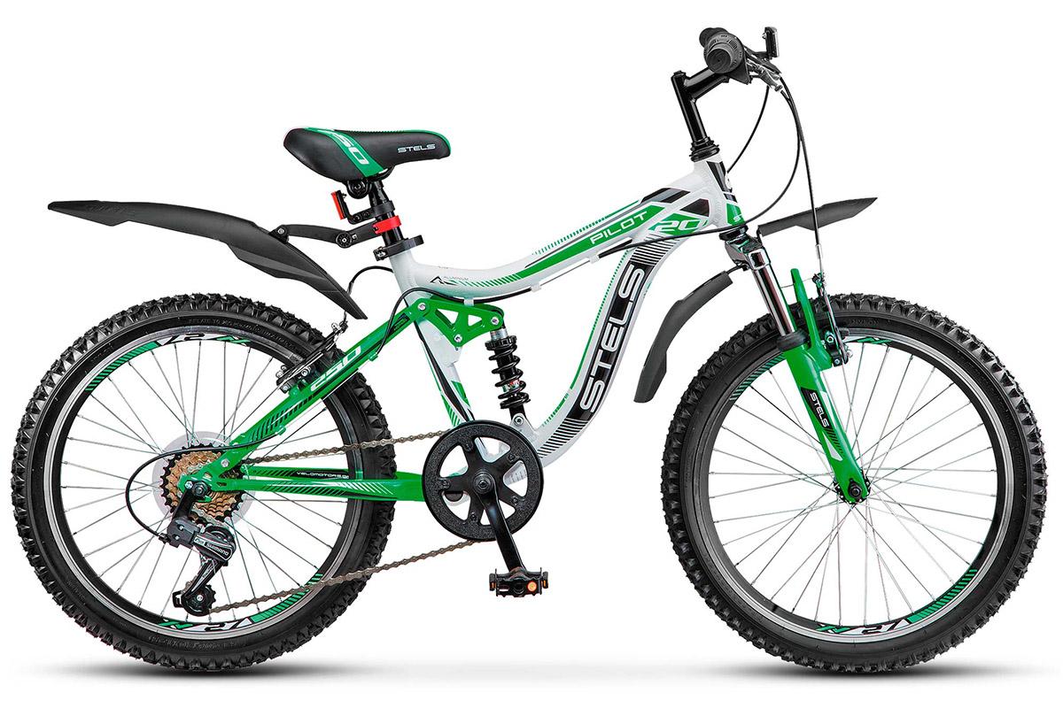 """Купить со скидкой Велосипед Stels Pilot 250 20 (2017) бело-зеленый 13"""""""