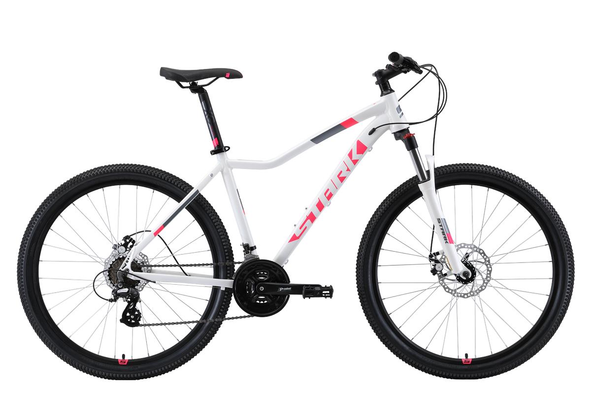 "Велосипед Stark Viva 27.3 D (2019) белый/чёрный/розовый 18"" STARK"