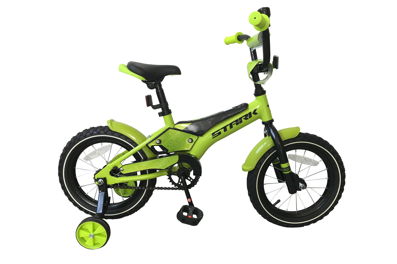 Велосипед Stark Tanuki 14 Boy 2019 зелёный-чёрный one size