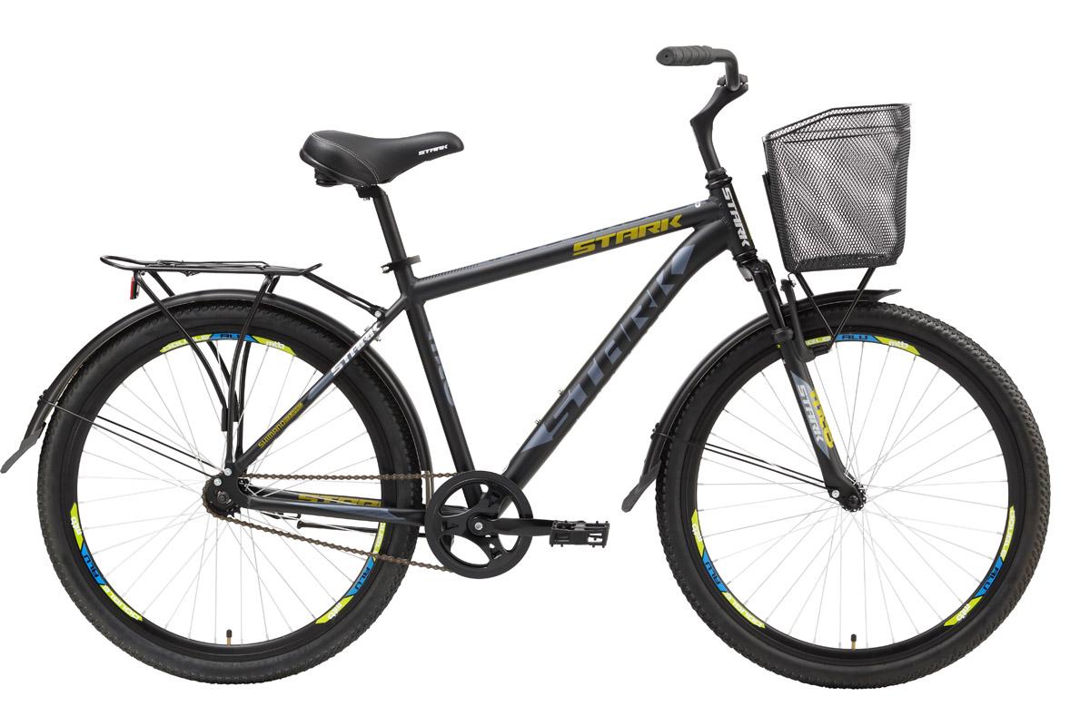 Велосипед Stark Indy Single (2016) черно-серый 18КОМФОРТНАЯ ПОСАДКА<br>Комфортный и недорогой дорожный велосипед Stark Indy Single не только принесёт вам пользу в хозяйстве, но позволит подарить себе много радостных километров на велосипедных прогулках. Имея размер колеса 26, как у горного велосипеда, этот недорогой дорожник более мягко катит по асфальту, благодаря не высокому протектору покрышек. Качественная сборка и отсутствие механизмов переключения передач делают велосипед лёгким в эксплуатации и обслуживании. В полной мере, вы оцените комфорт благодаря полноразмерным крыльям, которые надёжно защищают велосипедиста от грязи и воды на грунтовых дорогах. Мягкое седло, удобные педали и широкий руль подарят дополнительный комфорт на любой велопрогулке.<br><br>бренд: STARK<br>год: 2016<br>рама: Алюминий (Alloy)<br>вилка: Амортизационная (пружина)<br>блокировка амортизатора: Нет<br>диаметр колес: 26<br>тормоза: Ножной ( Coaster brake)<br>уровень оборудования: Начальный<br>количество скоростей: 1<br>Цвет: черно-серый<br>Размер: 18