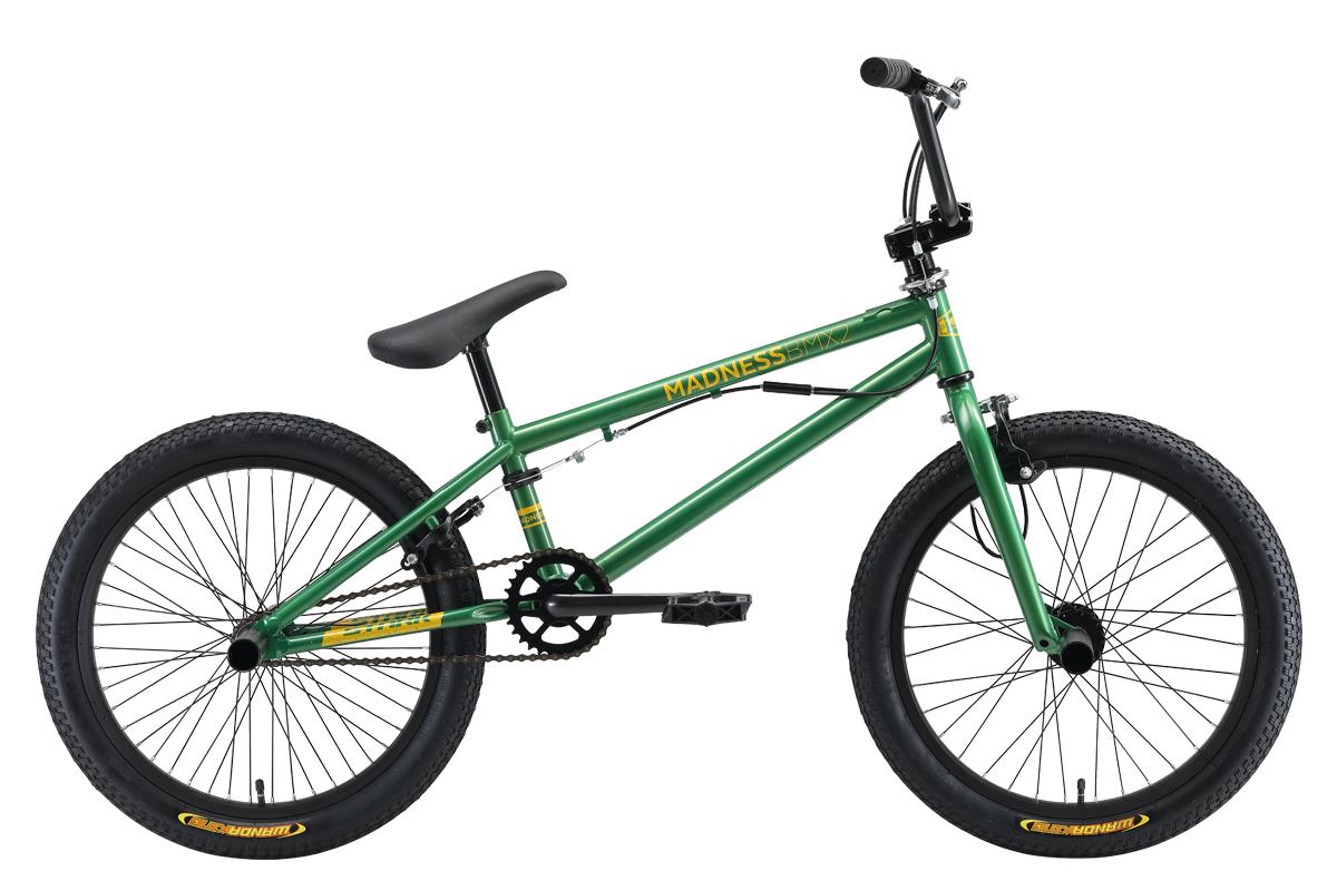 Велосипед Stark Madness BMX 2 2019 зелёный-жёлтый one size