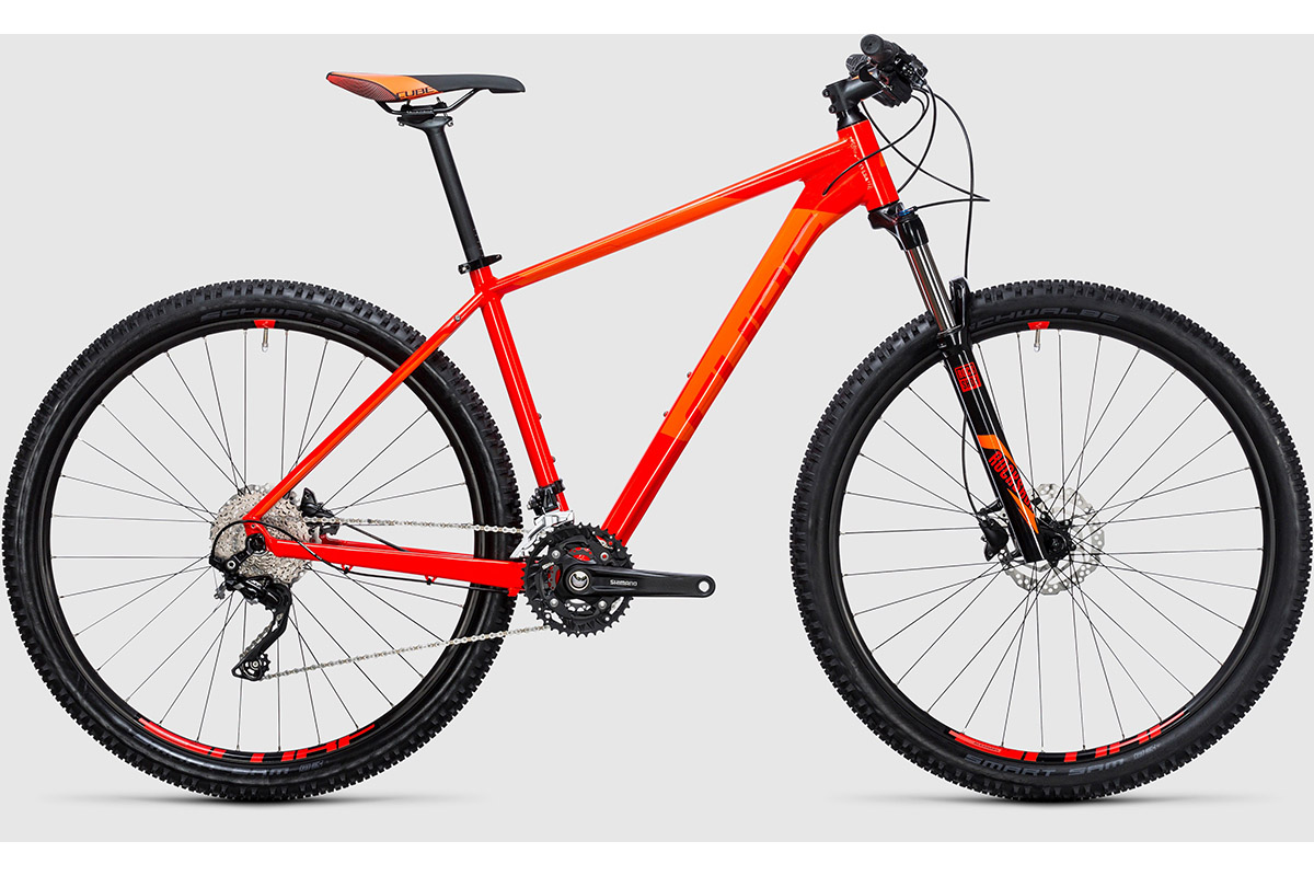 CUBE Велосипед Cube Attention 29 (2017) красно-оранжевый 19 велосипед cube attention sl 29 2016