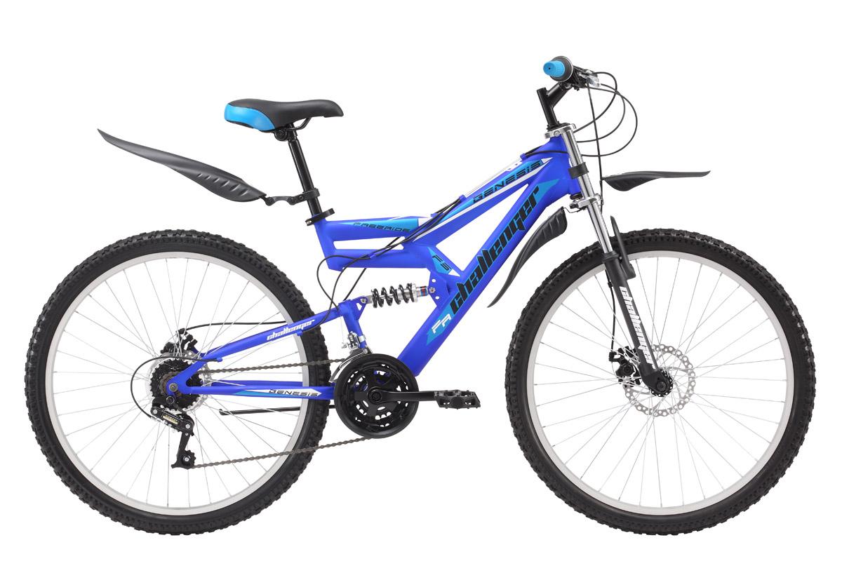 Велосипед Challenger Genesis (2016) черно-красный 20