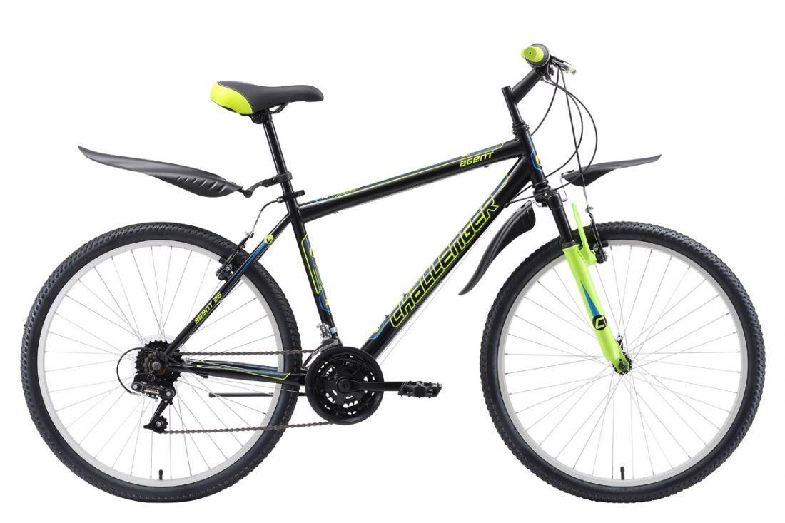 Велосипед Challenger Agent Lux 26 2018 чёрный-красный-белый 20 д