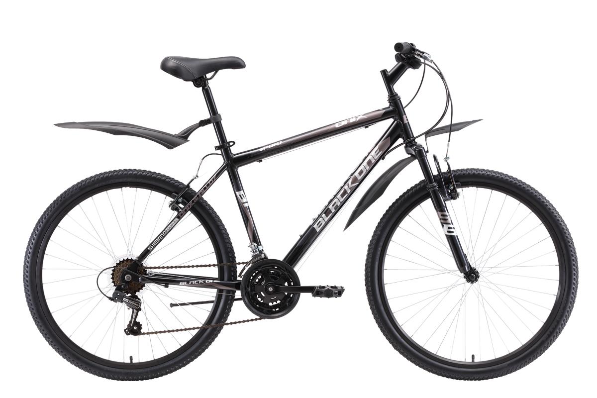 Велосипед Black One Onix 26 Alloy 2018 чёрный-тёмно-серый-серый 18 д