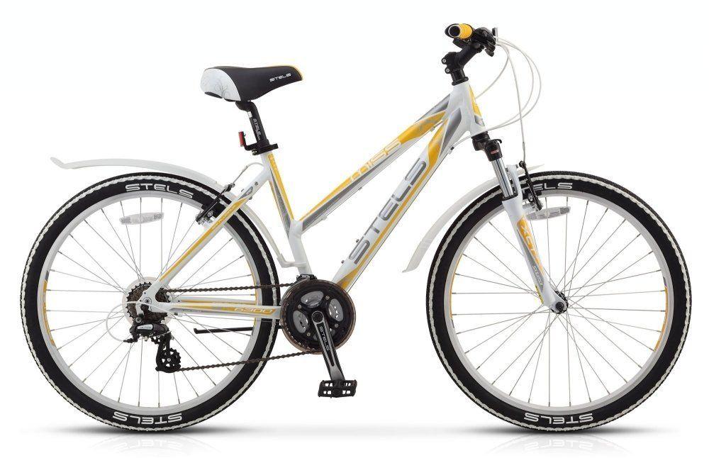 Велосипед Stels Miss 6300 V 26 (2018) бело-серо-желтый 17.5