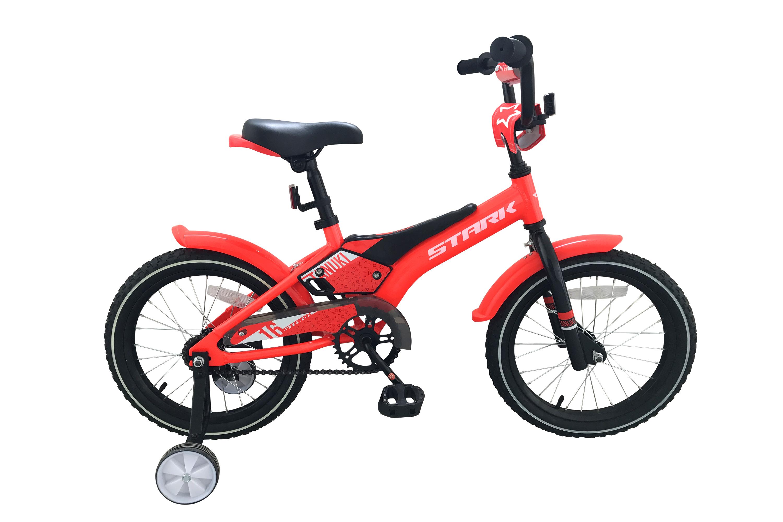 Велосипед Stark Tanuki 16 Boy 2019 красный-чёрный-белый one size