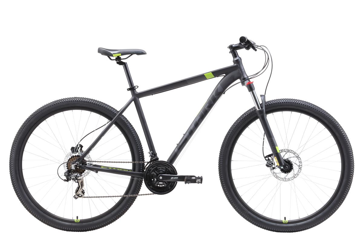 Велосипед Stark Hunter 29.2 HD 2019 чёрный-серый-зелёный 18 д