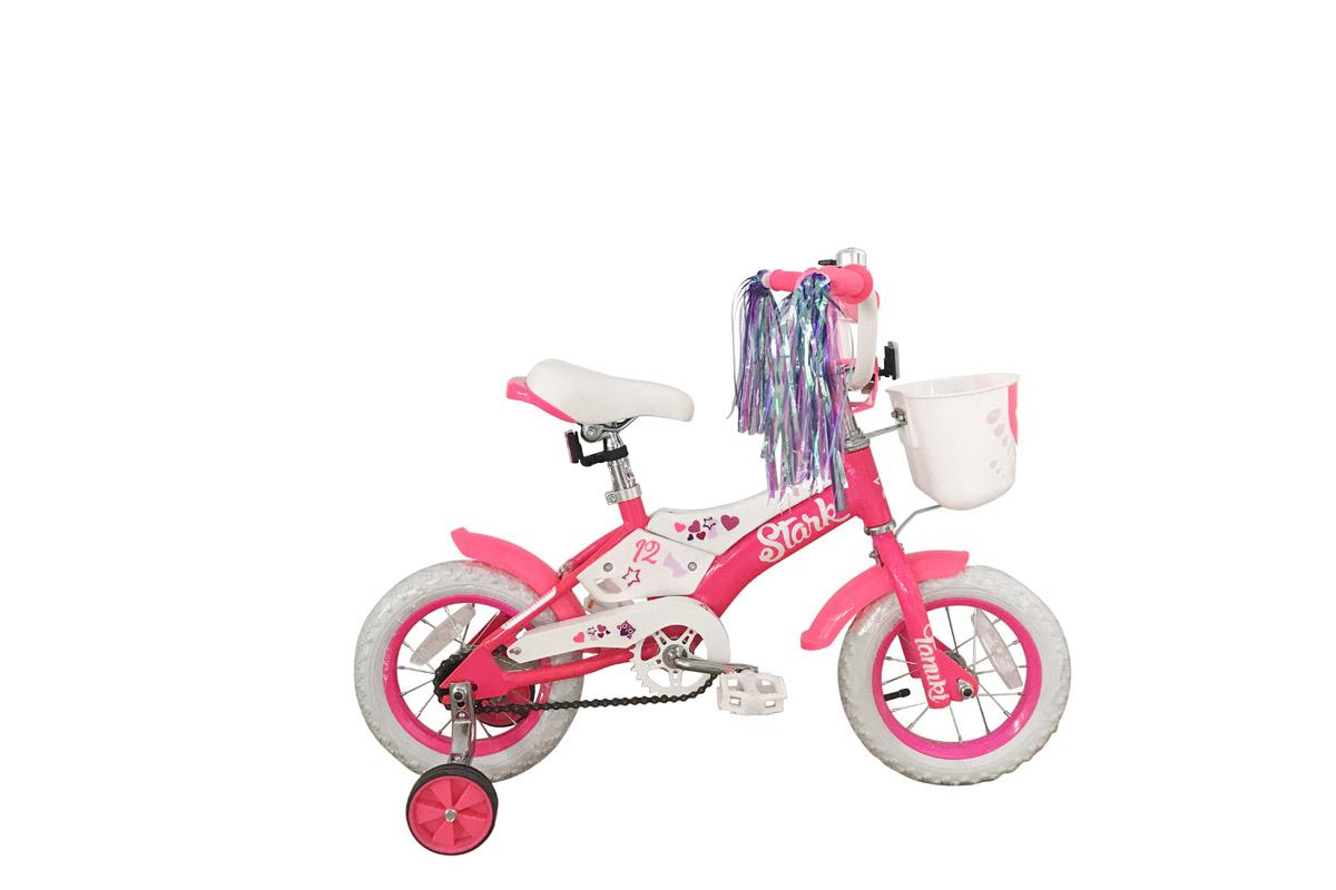 Велосипед Stark Tanuki 12 Girl 2018 розовый-белый one size