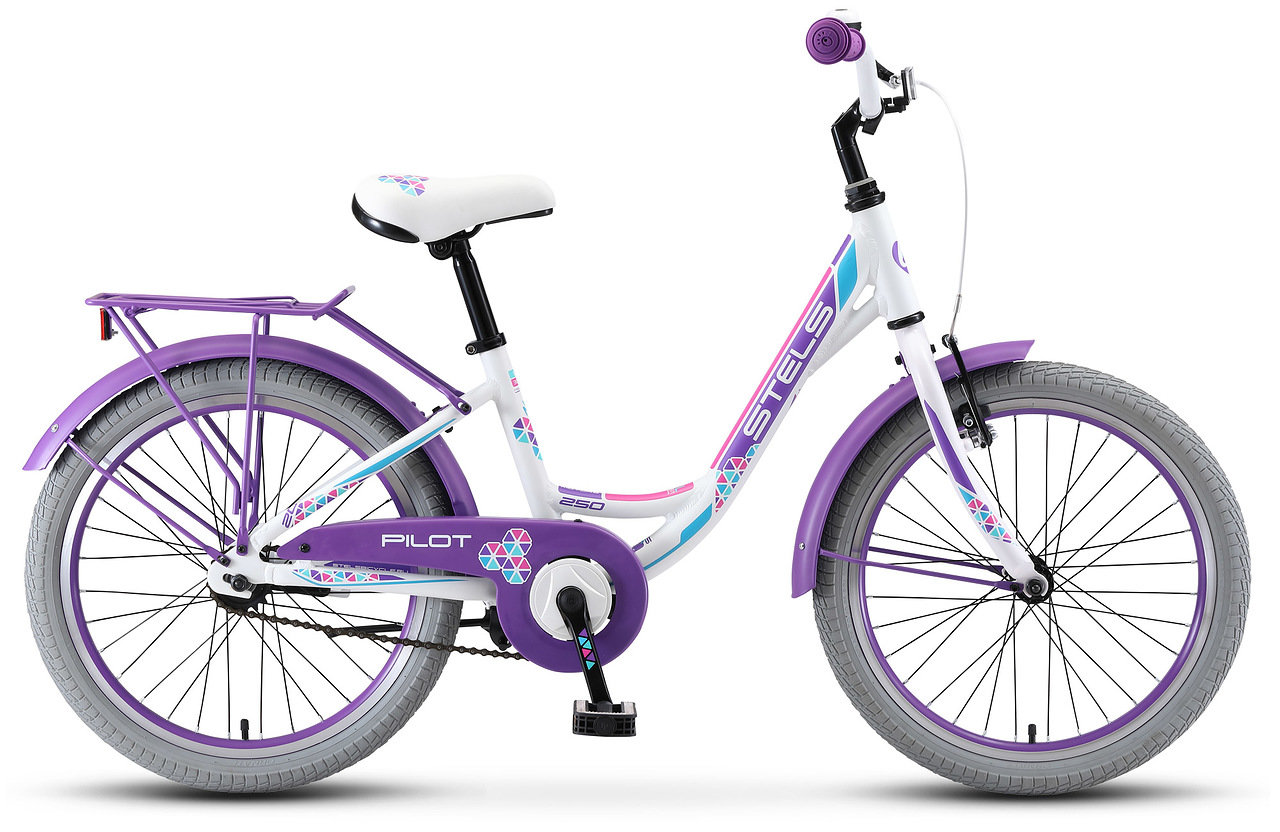 Велосипед Stels Pilot 250 Lady 20 V010 2019 белый 12 д