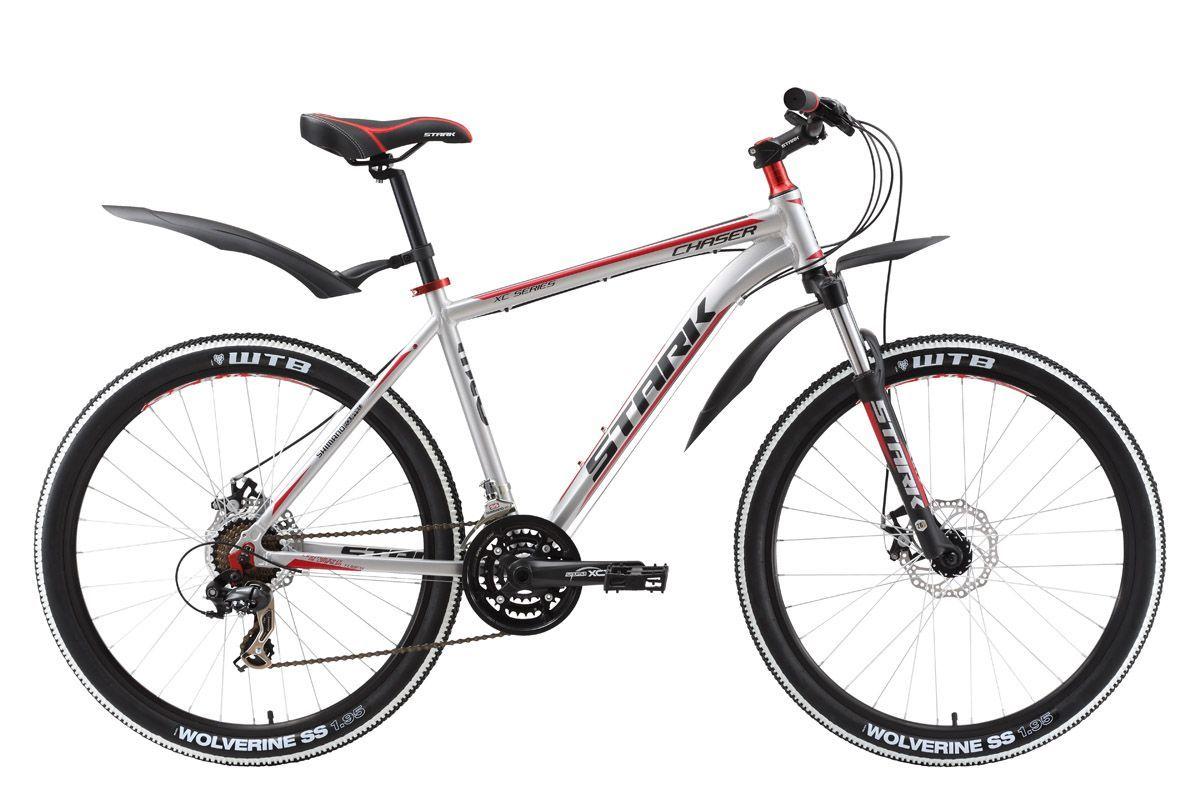Велосипед Stark Chaser Disc (2016) черно-зеленый 18КОЛЕСА 26 (СТАНДАРТ)<br>Лучшая цена на велосипед с дисковым тормозом, для туризма и велопрогулок. Такой вывод можно сделать, хорошо ознакомившись с характеристиками велосипеда Stark Chaser Disc, а главное, прокатившись на этом горном велосипеде по дорожкам парка или лесным тропинкам. Линейка велосипедов Stark Chaser, укомплектованная комфортной передней вилкой ZOOM, качественным оборудованием Shimano и износостойкой цепью KMC и без того выгодно выделялась среди конкурентов, а эффективный механический дисковый тормоз Promax Disc позволил этому горному велосипеду встать ещё на ступеньку выше. Stark Chaser Disc  лучший велосипед по лучшей цене. Stark Chaser Disc 2016 года незначительно отличается комплектацией от прошлогодней модели.<br><br>бренд: STARK<br>год: 2016<br>рама: Алюминий (Alloy)<br>вилка: Амортизационная (пружина)<br>блокировка амортизатора: Нет<br>диаметр колес: 26<br>тормоза: Дисковые механические<br>уровень оборудования: Начальный<br>количество скоростей: 21<br>Цвет: черно-зеленый<br>Размер: 18
