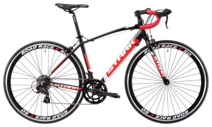 Велосипед Stark Peloton 700.1 2018 чёрный-тёмно-серый-белый 20 д