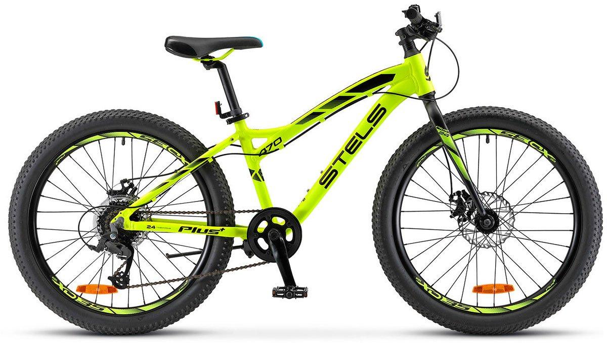 Велосипед Stels Navigator 470 MD 24+ 2018 неоновый-зеленый 13.5 д