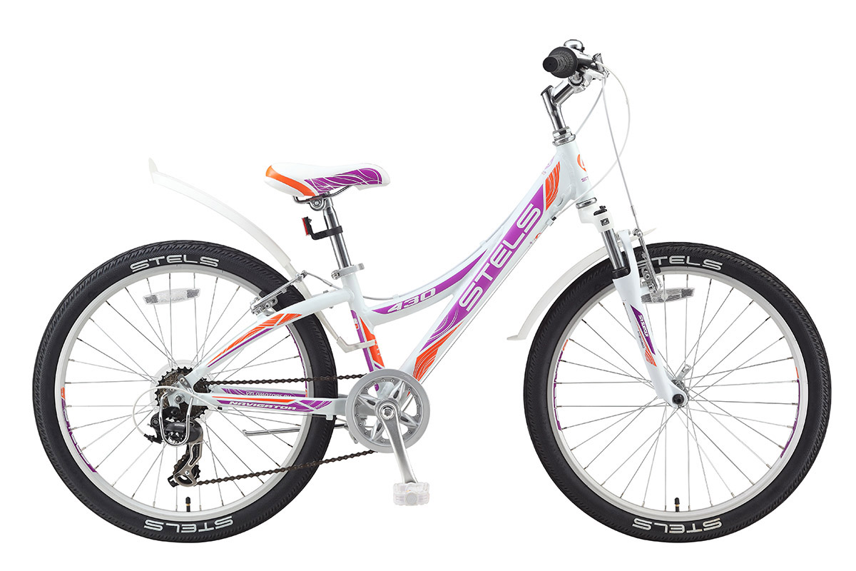 STELS Велосипед Stels Navigator 430 V 24 (2017) бело-фиолетово-оранжевый 11.5