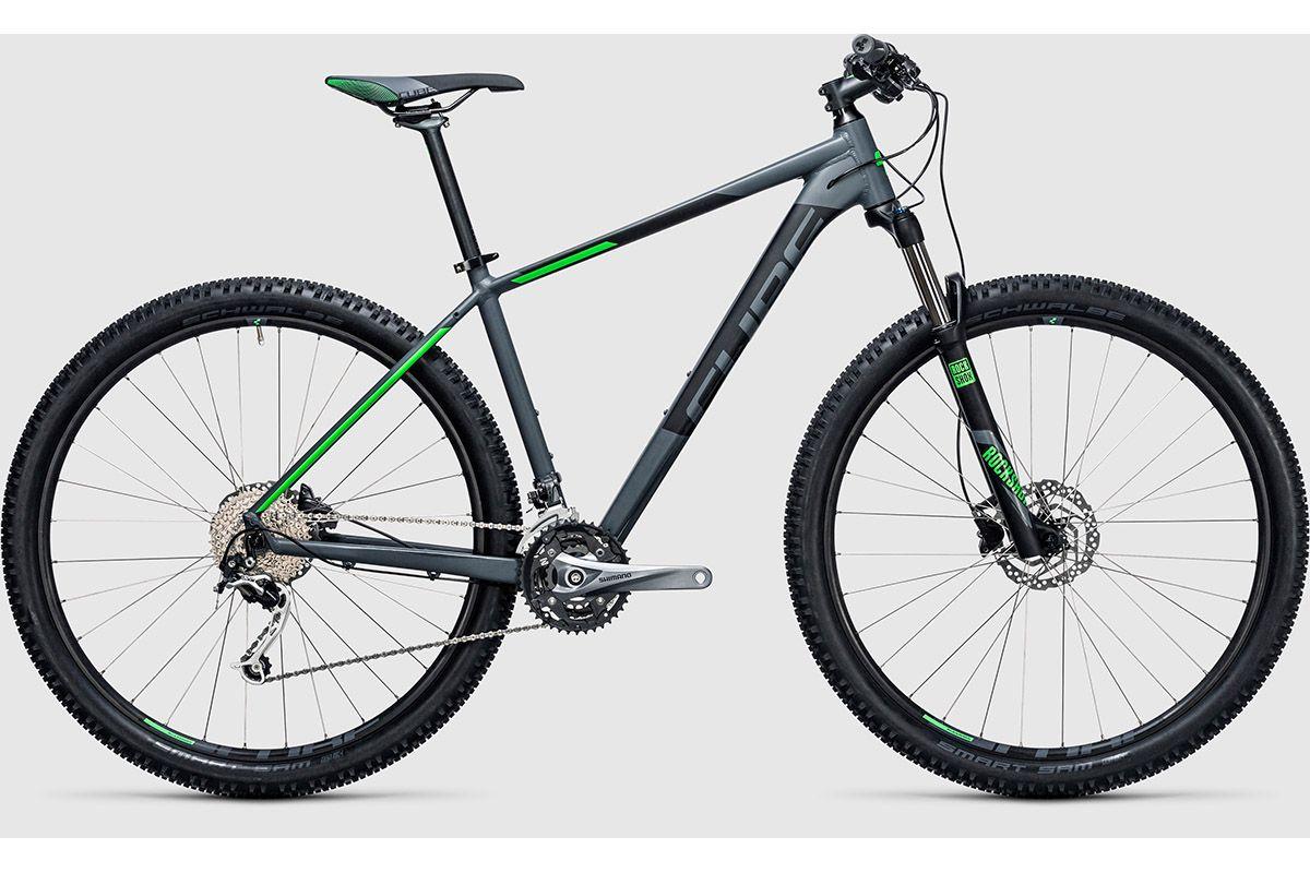 CUBE Велосипед Cube Analog 27.5 (2017) серо-зеленый 18 велосипед cube analog 29 2016