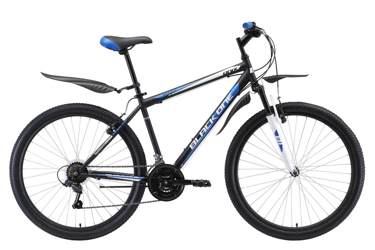 Велосипед Black One Onix 27.5 2019 чёрный-синий-серебристый 20 д