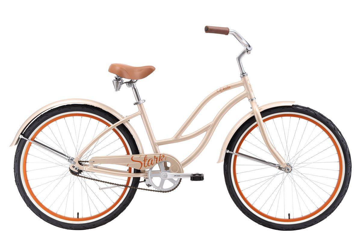 Велосипед Stark Vesta 26.1 S 2018 бежевый-коричневый 16 д