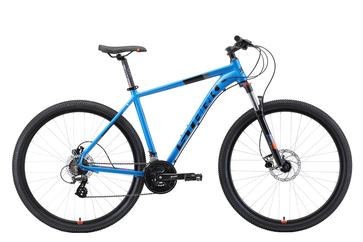 Велосипед Stark Router 29.3 HD 2019 голубой-чёрный-оранжевый 20 д