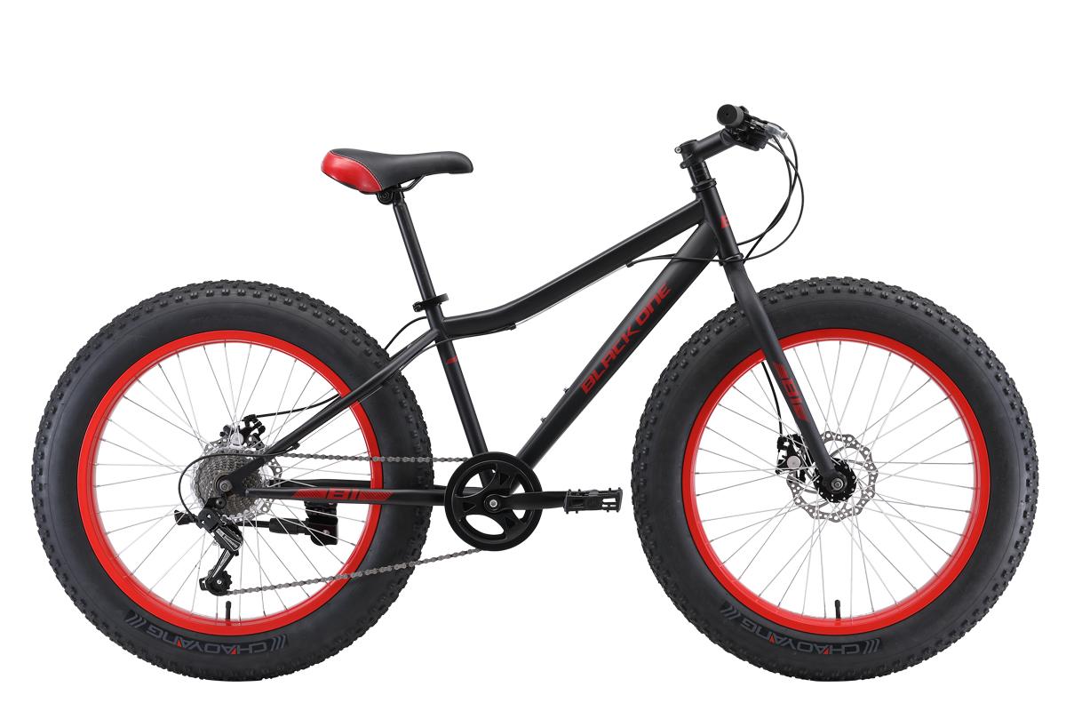 Велосипед Black One Monster 24 D 2019 чёрный-вишнёвый 13 д
