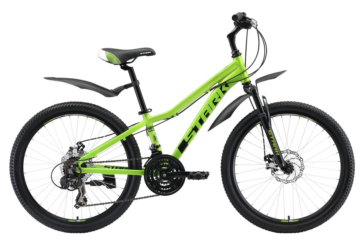 Велосипед Stark Rocket 24.2 D 2019 зелёный-чёрный one size