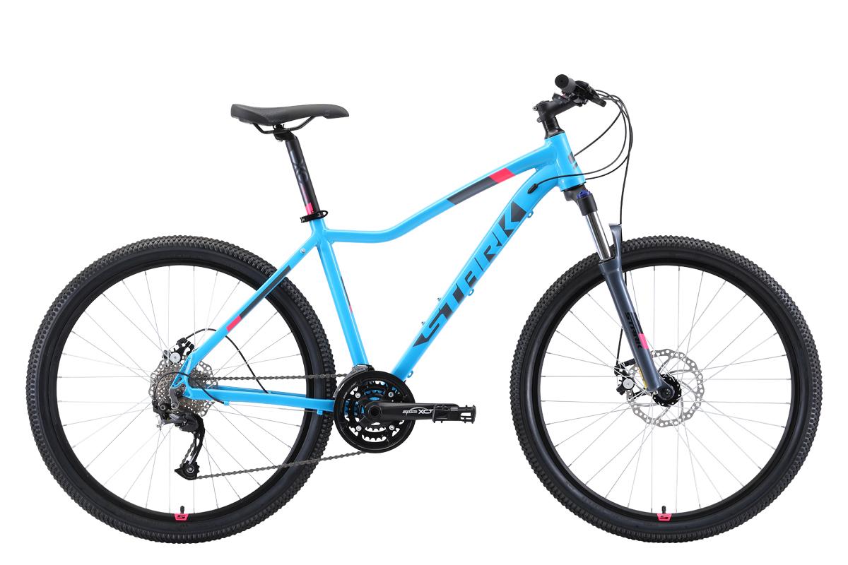 "Велосипед Stark Viva 27.4 D (2019) голубой/серый/розовый 18"" STARK"