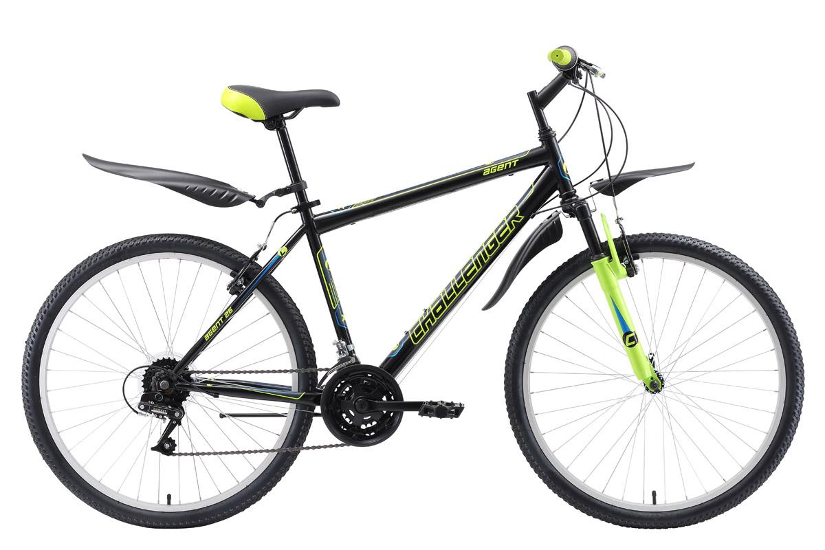 Велосипед Challenger Agent 26 2018 чёрный-серый-белый 20 д