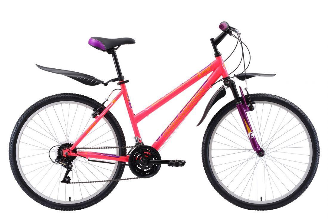 Велосипед Challenger Alpina 26 D 2018 белый-розовый-голубой 16 д