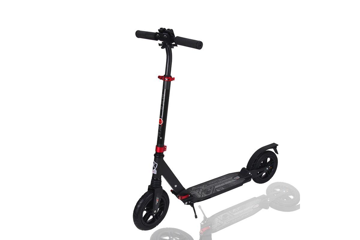 Самокат Amigo Sport Ascona серый one sizeСАМОКАТЫ<br>100#37; алюминиевая рама Регулируемая высота руля до 94 см Легкая система складывания Два амортизатора : фронтальный и на стыке платформы и заднего колеса Надувные колёса, диаметр 200 мм Грузоподъемность: до 80кг<br><br>бренд: AMIGO<br>год: Всесезонный<br>рама: None<br>вилка: None<br>блокировка амортизатора: None<br>диаметр колес: None<br>тормоза: None<br>уровень оборудования: None<br>количество скоростей: None<br>Цвет: серый<br>Размер: one size