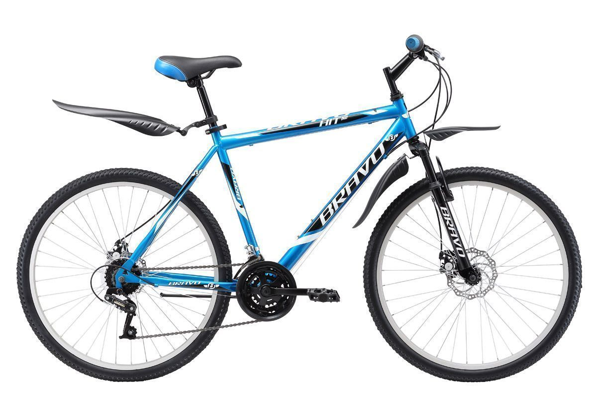 BRAVO Велосипед Bravo Hit 26 Disc (2017) сине-белый 16