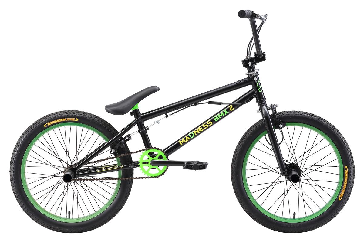 Велосипед Stark Madness BMX 2 (2017) желто-синий one sizeBMX<br>Хотите научиться выполнять трюки на bmx, но не знаете какой велосипед выбрать? Обратите внимание на Stark BMX 2. Его соотношение цены и качества идеально подойдут для начинающих райдеров, которые хотят научиться выполнять свои первые трюки. Стальная рама, выполненная с применением современных технологий, обладает всеми необходимыми качествами: она достаточна легкая и способна выдержать прыжки и падения, даже с большой высоты. Данная модель оснащена крепкими пегами, которые устойчивы к большим нагрузкам. Стильный дизайн этого велосипеда станет приятным дополнением к хорошей технической оснащённости данной модели.<br><br>бренд: STARK<br>год: 2017<br>рама: Сталь (Hi-Ten)<br>вилка: Жесткая (сталь)<br>блокировка амортизатора: Нет<br>диаметр колес: 20<br>тормоза: Клещевые (U-brake)<br>уровень оборудования: Начальный<br>количество скоростей: 1<br>Цвет: желто-синий<br>Размер: one size