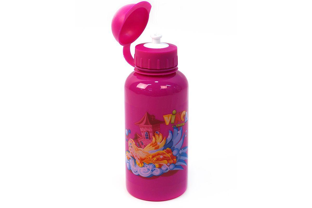 """Велофляга детская с защитой от пыли """"Принцесса"""" Vinca Sport розовый 500мл"""