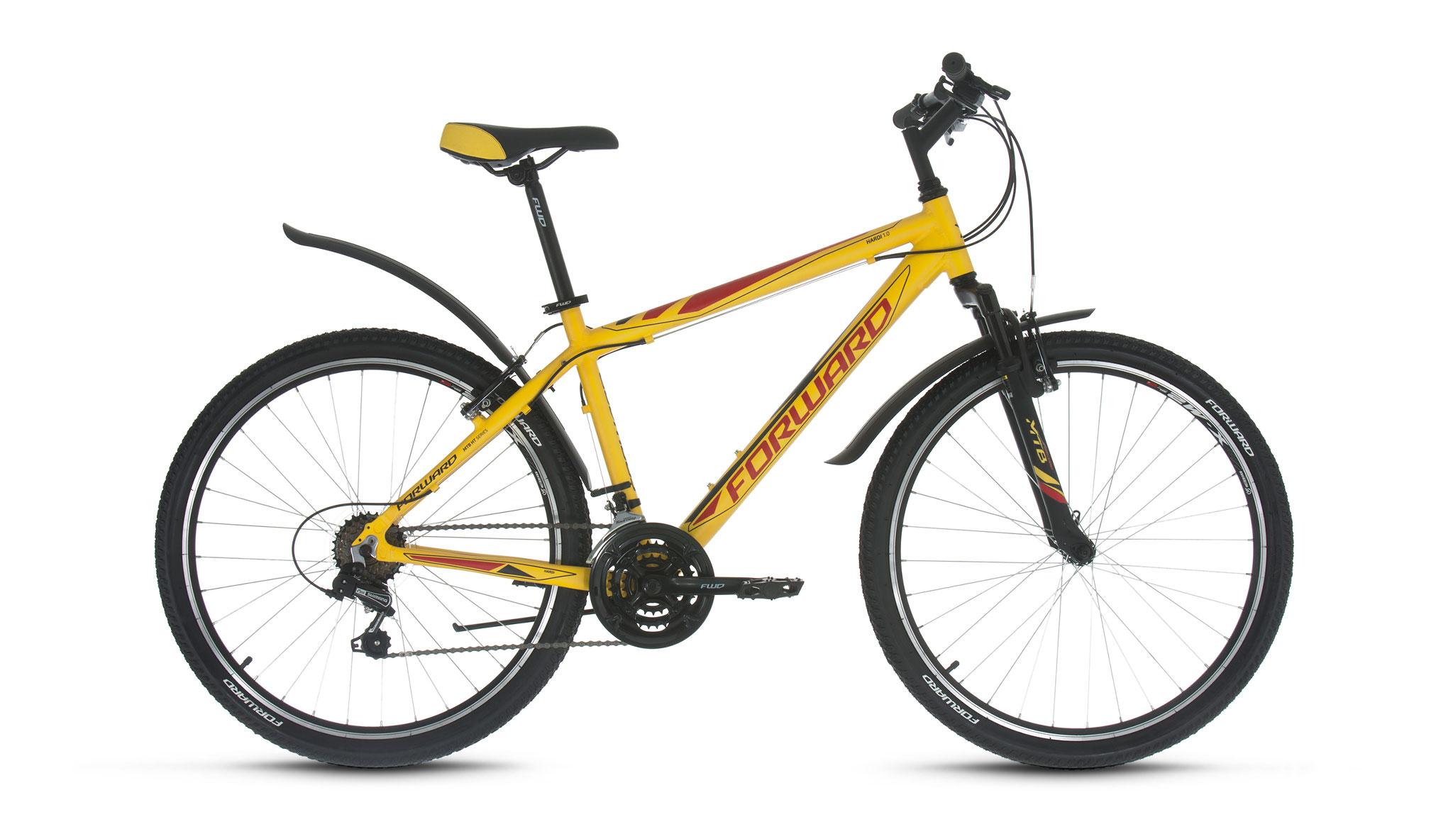 Велосипед Forward Hardi 1.0 2018 желтый 17 д