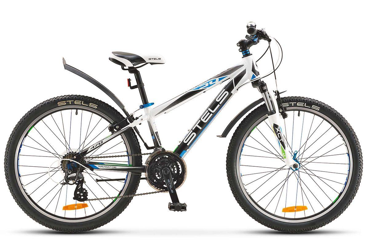 Велосипед Stels Navigator 470 V 24 2018 бело-черный 12 д