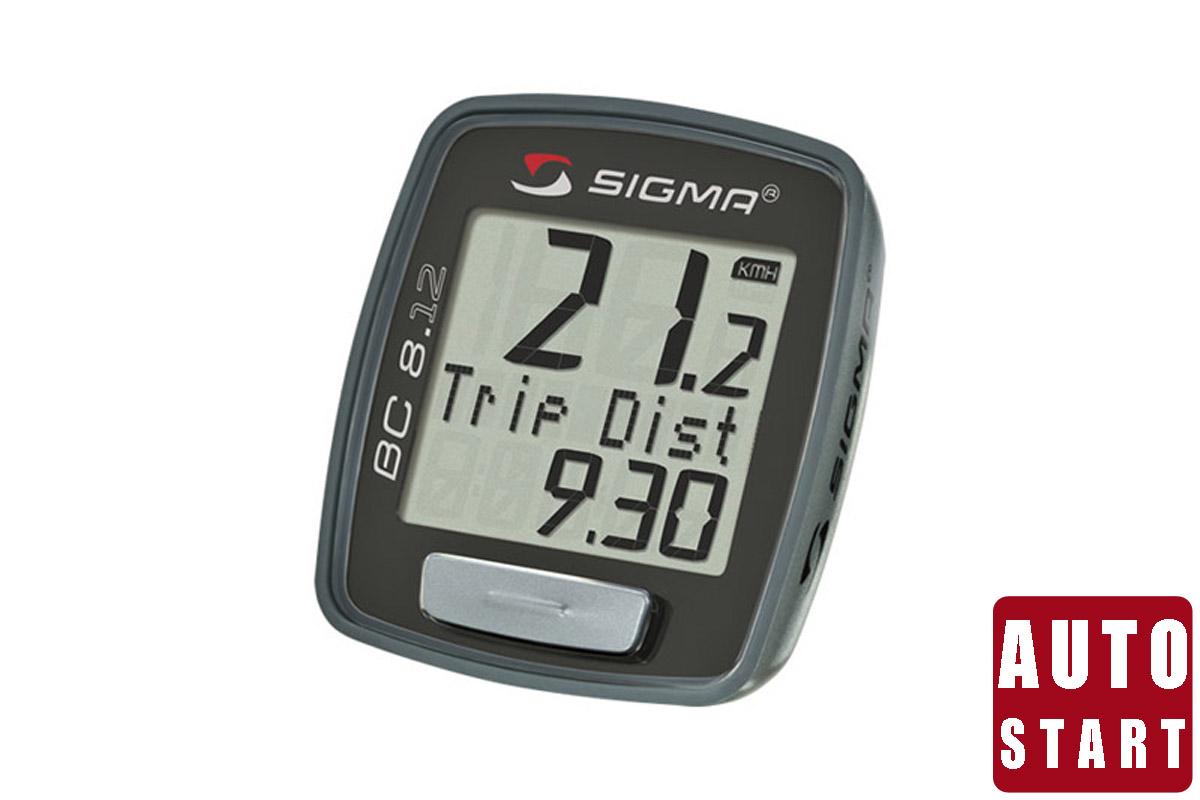 Велокомпьютер Sigma BC 8.12 чёрныйВЕЛОКОМПЬЮТЕРЫ<br>Проводной велокомпьютер Sigma BC 8.12, кроме основных характеристик поездки – время, скорость, пройденный путь, фиксирует максимальную скорость поездки и рассчитывает среднюю скорость, а также общее расстояние и общее время поездок. Влагозащищен.  Описание функций:  Отображает текущее время (часы). Автоматический старт\стоп. Скрытие функций во время движения - общие значения будут скрыты во время движения (как только начнет отображаться значение скорости). Это позволяет пропускать неиспользуемые функции. Интерфейс для подключения к ПК - велокомпьютер имеет возможность подключения к ПК. После приобретения программного обеспечения SIGMA DATA CENTER и стыковочного модуля общие и текущие данные могут быть без труда перенесены на ПК. Кроме того, при помощи ПК можно производить настройку велокомпьютера. Интервал обслуживания - владелец велосипеда может указать километраж, при достижении которого появится напоминание о техосмотре велосипеда (на дисплее появляется сообщение «Inspektion»).  На этой странице, вы можете скачать полную инструкцию для велокомпьютеров Sigma BC 8.12<br><br>бренд: SIGMA<br>год: Всесезонный<br>рама: None<br>вилка: None<br>блокировка амортизатора: None<br>диаметр колес: None<br>тормоза: None<br>уровень оборудования: None<br>количество скоростей: None<br>Цвет: чёрный<br>Размер: None