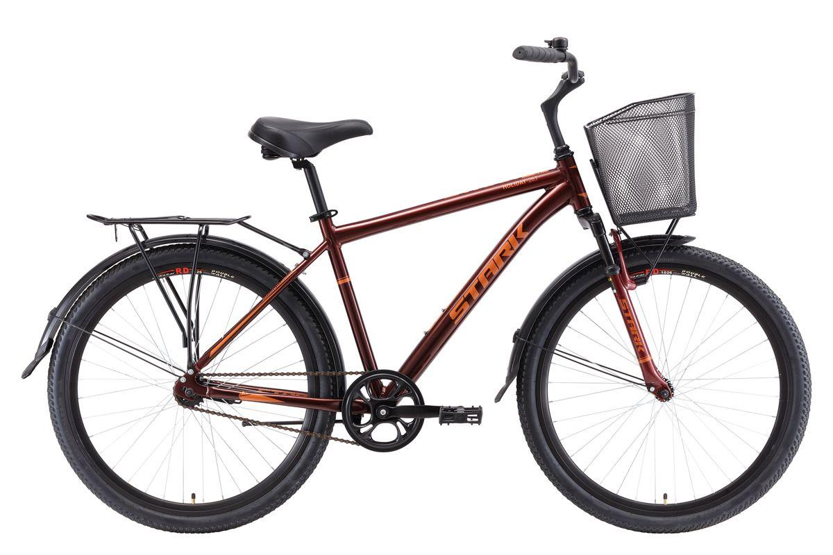 Велосипед Stark Holiday 26.1 S 2018 тёмно-коричневый-серый 16 д