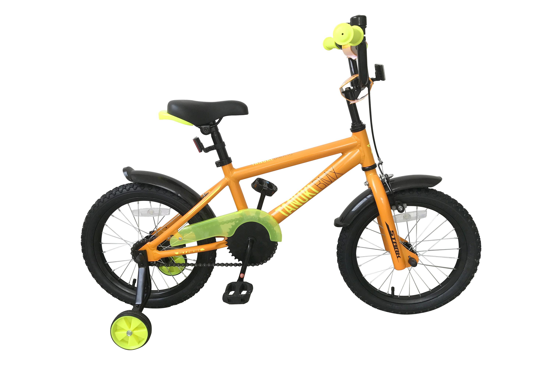 Велосипед Stark Tanuki 16 BMX 2019 оранжевый-жёлтый one size