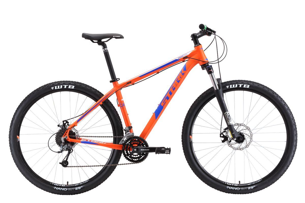 Велосипед Stark Armer 29.5 D 2018 оранжевый-тёмно-синий-белый 18 д