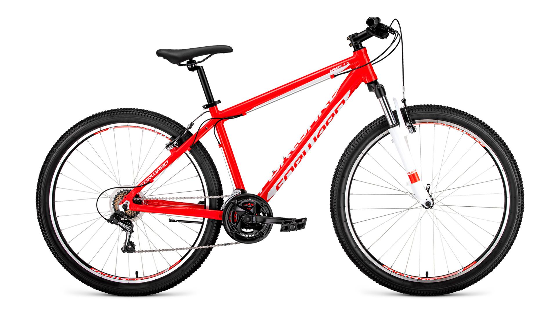 Велосипед Forward Apache 27.5 1.0 2019 красный-белый 19 д