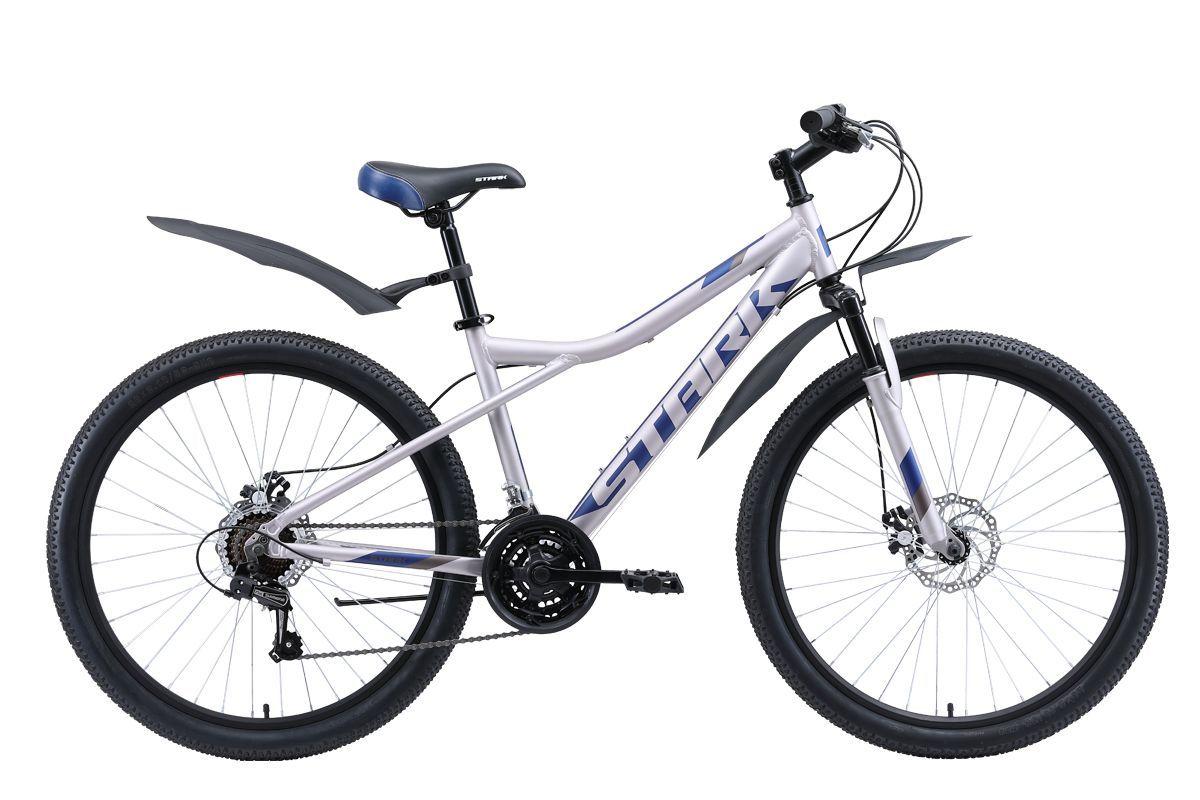 Велосипед Stark Slash 26.1 D (2020) серый/голубой 14.5