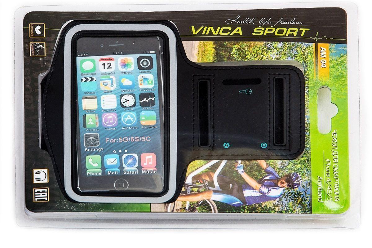Водозащитный держатель - чехол на руку для Iphone4-4S-5 AM04 Vinca Sport чёрный