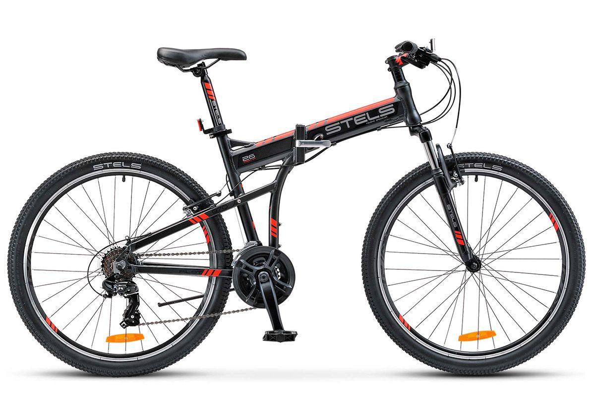 """Купить со скидкой Велосипед Stels Pilot 970 V 26 (2017) серо-красный 19"""""""