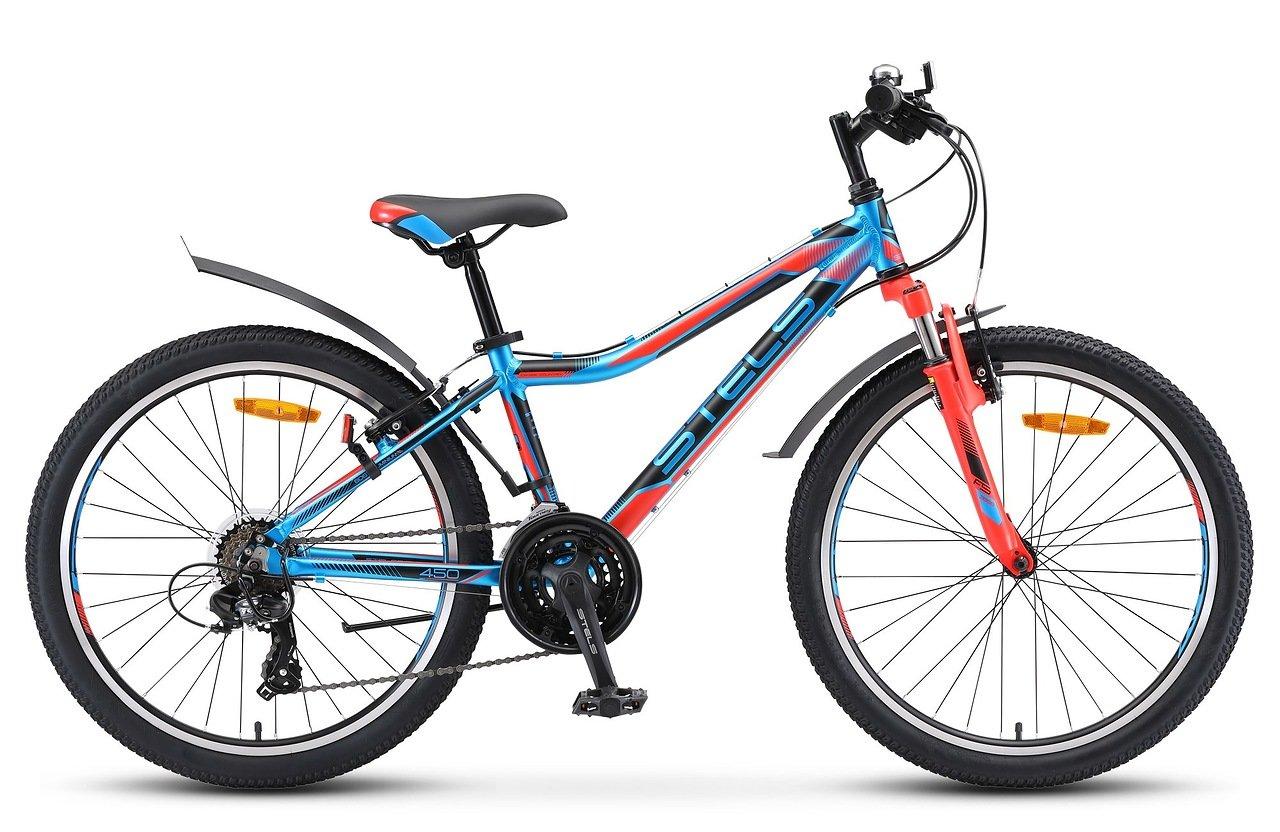 Велосипед Stels Navigator 450 V 24 V010 2019 синий-красный-чёрный 13 д