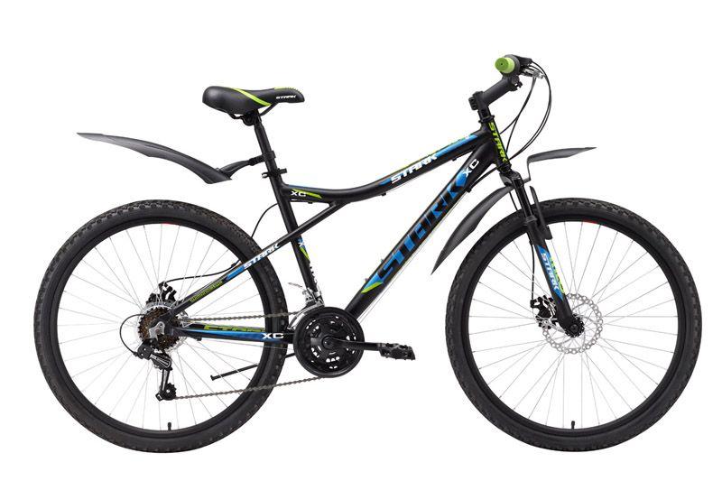 Велосипед Stark Slash Disc (2016) черно-синий 18ОТ 9 ДО 13 ЛЕТ (24-26 ДЮЙМОВ)<br>Горный велосипед Stark Slash Disc - это вариант модели Slash с механическим дисковым тормозом. Заниженная верхняя труба алюминиевой рамы - удобное решение при покупке велосипеда для подростка, когда предполагается, что велосипедист ещё сильно прибавит в росте. Переключение передач выполняется с помощью переключателей SHIMANO SL-RS35 #40;ревошифт - кольцо вращается вокруг руля#41; в диапазоне 18-ти передач. Конструкция дисковых тормозов JAK-5, с роторами диаметром 140 мм позволяет с большей эффективностью останавливать велосипед в условиях высокой загрязнённости дорожного покрытия. Быстросъёмные крылья идут в базовой комплектации к горному велосипеду Stark Slash Disc и надёжно защищают велосипедиста от грязи.<br><br>бренд: STARK<br>год: 2016<br>рама: Алюминий (Alloy)<br>вилка: Амортизационная (пружина)<br>блокировка амортизатора: None<br>диаметр колес: 26<br>тормоза: Дисковые механические<br>уровень оборудования: Начальный<br>количество скоростей: 21<br>Цвет: черно-синий<br>Размер: 18