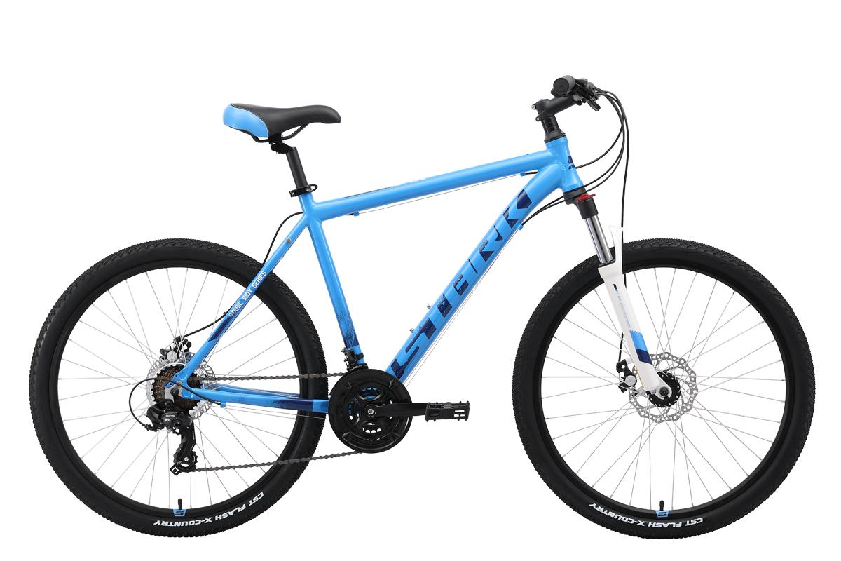 Велосипед Stark Indy 26.2 D 2019 голубой-синий-белый 18 д