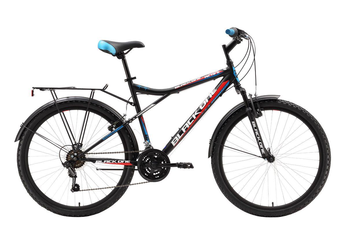 Велосипед Black One Active (2016) черно-красный 16ТУРИСТИЧЕСКИЕ<br>Дорожный велосипед Black One Active оборудован передней амортизационной вилкой. Задняя подвеска обладает амортизирующими свойствами за счёт большой длины перьев задней вилки. 18-ти скоростная трансмиссия и 26-дюймовые колёса, обутые в широкую резину, помогают уверенно чувствовать себя на дороге. Переднее колесо, закреплённое эксцентриком, при необходимости быстро снимается. Торможение выполняется надёжным ободным тормозом. Дорожный велосипед оборудован полноразмерными крыльями, подножкой и багажником. Black One Active  практичный и надёжный велосипед на стальной раме, предназначен для асфальта и дорог без покрытия.<br><br>бренд: BLACK ONE<br>год: 2016<br>рама: Сталь (Hi-Ten)<br>вилка: Амортизационная (пружина)<br>блокировка амортизатора: Нет<br>диаметр колес: 26<br>тормоза: Ободные (V-brake)<br>уровень оборудования: Начальный<br>количество скоростей: 18<br>Цвет: черно-красный<br>Размер: 16