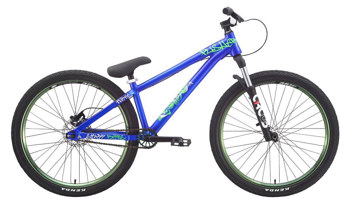 Велосипед Stark Pusher 3 (2015) сине-зеленый 14.5