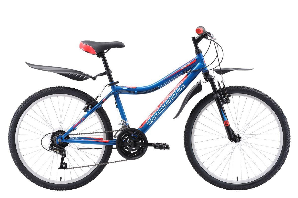 Велосипед Challenger Cosmic 24 2018 жёлтый-красный-голубой 13 д