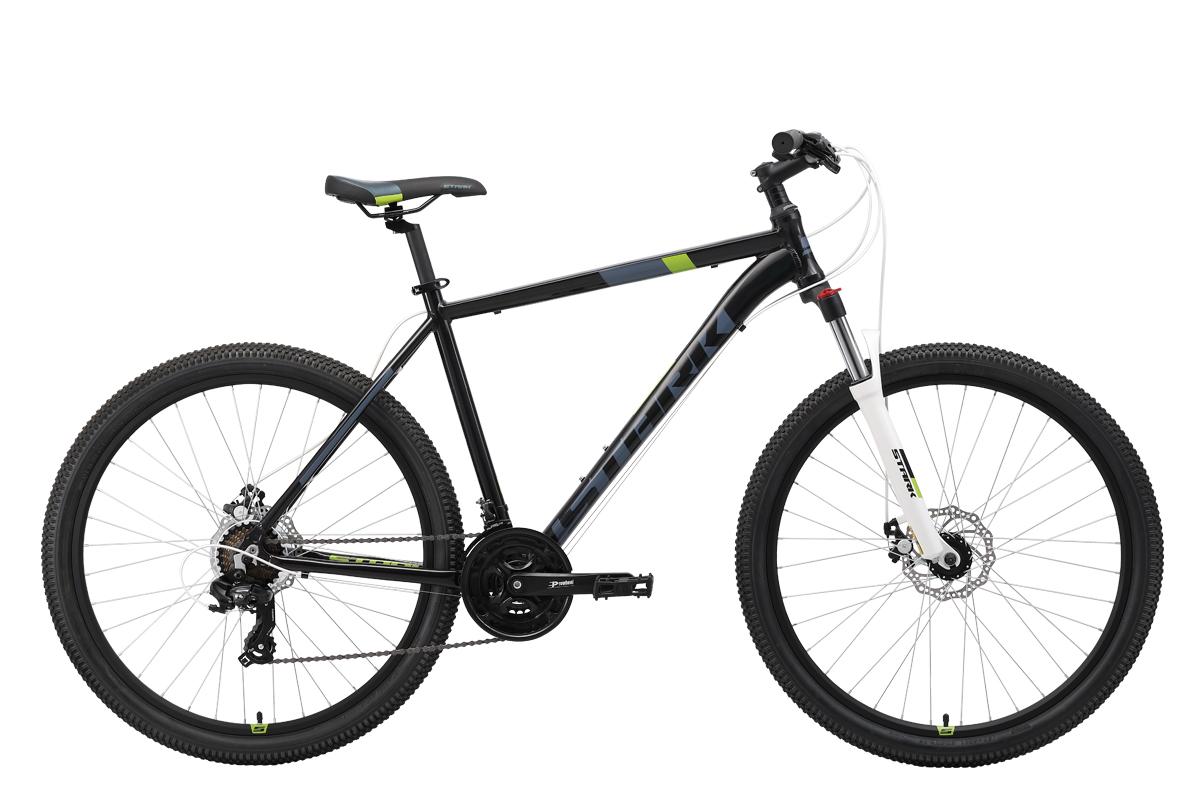 Велосипед Stark Hunter 27.2 D 2019 чёрный-серый-зелёный 18 д