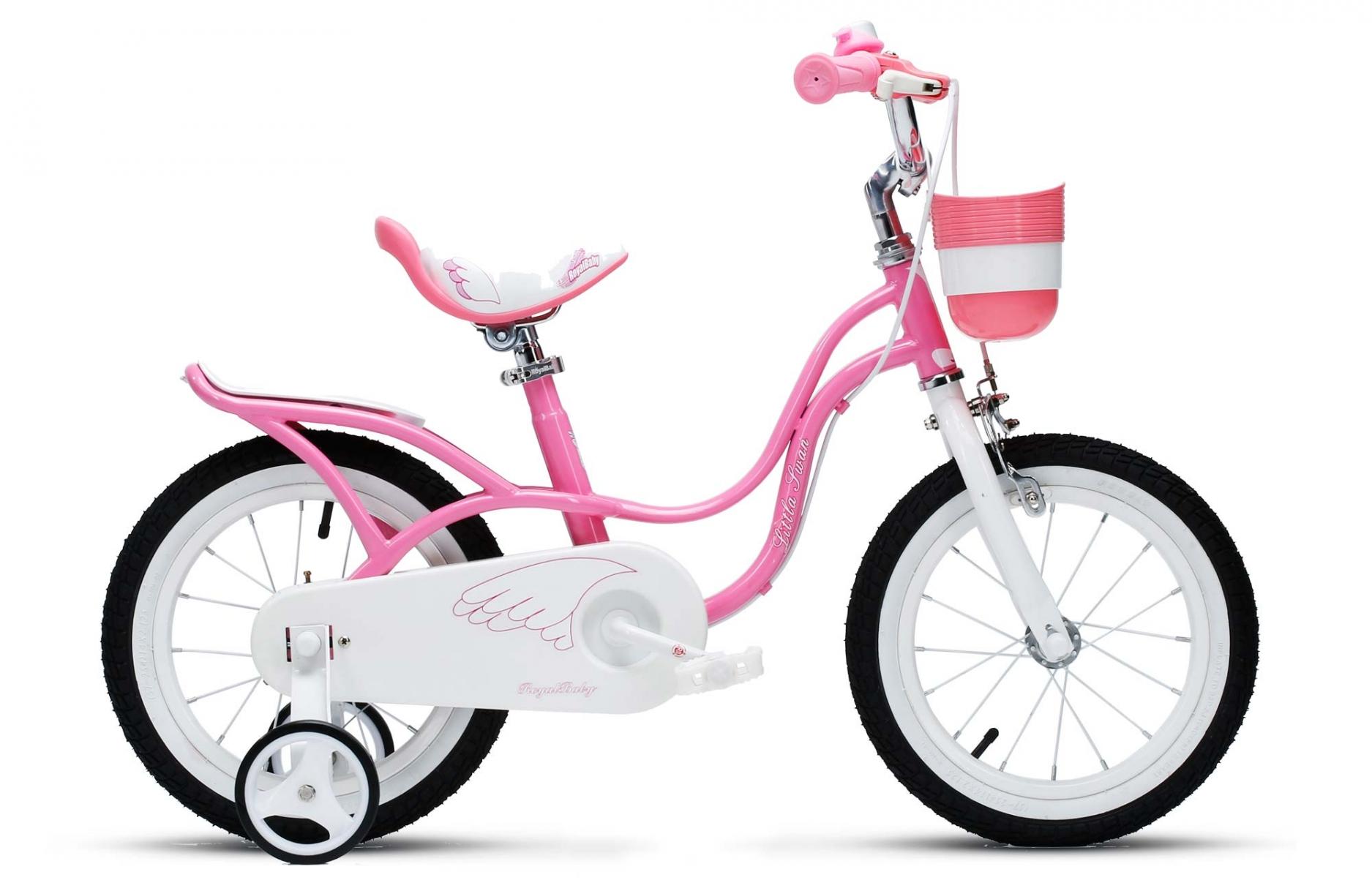 Велосипед Royal Baby Little Swan Steel 14 розовый one size