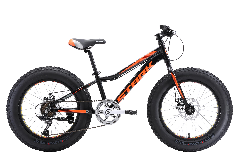 Велосипед Stark Rocket Fat 20.1 D 2018 чёрный-оранжевый one size